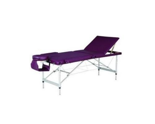 Массажный стол 3-х секционный (алюм.рама) фиолетовый HY-3381