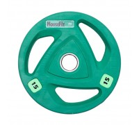 Диск олимпийский HouseFit 15 кг зеленый
