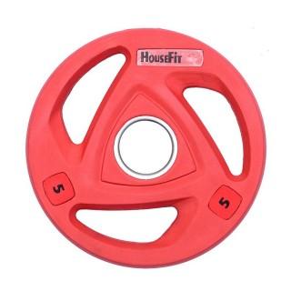 Диск олимпийский HouseFit 5 кг красный