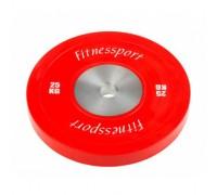 Диск для кроссфита FitnesSport 25 кг красный RCP 22-25