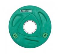 Диск олимпийский HouseFit 2,5 кг зеленый