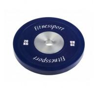 Диск для кроссфита FitnesSport 20 кг синий RCP 22-20