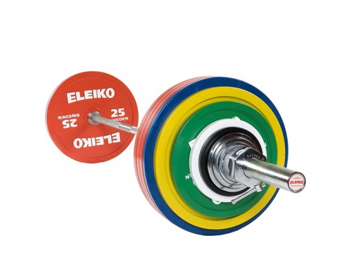 Штанга Eleiko для пауэрлифтинга тренировочная в сборе 185 кг 3002312