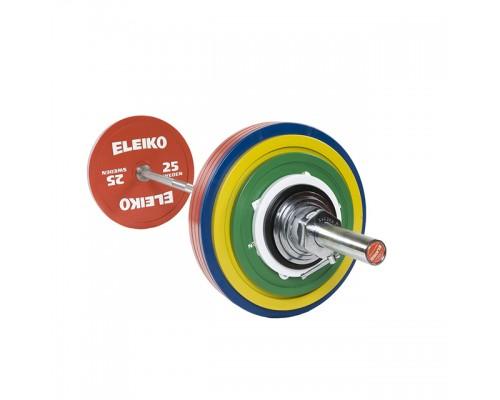 Штанга Eleiko в сборе для соревнований по пауэрлифтингу 285 кг цветная 3000230