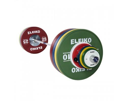 Олимпийская штанга Eleiko для соревнований по тяжелой атлетике 190 кг цветная мужская 3001240F