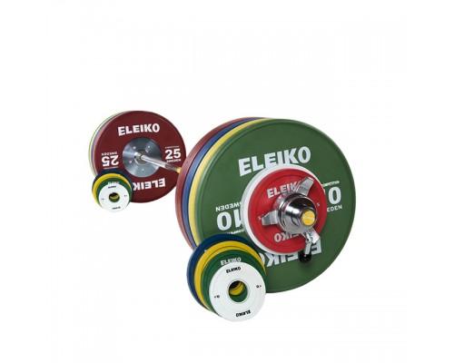 Олимпийская штанга Eleiko для соревнований по тяжелой атлетике 185 кг цветная женская 3001239F