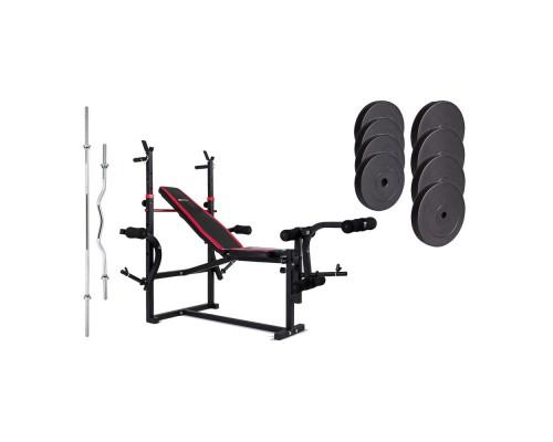 Набор Hop-Sport Premium HS-1070 74 кг со скамьей