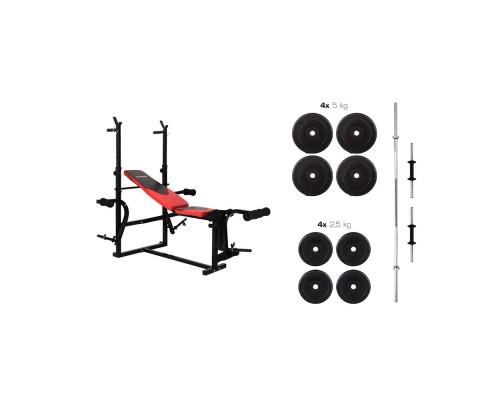 Набор Hop-Sport Premium HS-1070 39,5 кг со скамьей