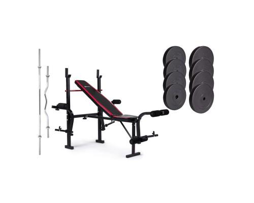 Набор Hop-Sport Premium HS-1055 74 кг со скамьей