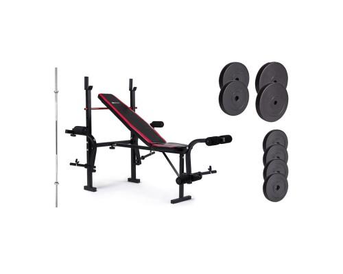 Набор Hop-Sport Premium HS-1055 48 кг со скамьей