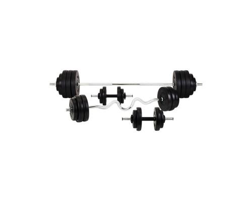 Набор Hop-Sport Premium HS-1070 128 кг со скамьей