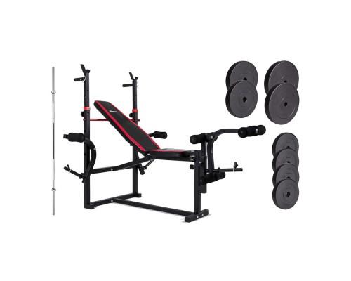 Набор Hop-Sport Premium HS-1070 48 кг со скамьей