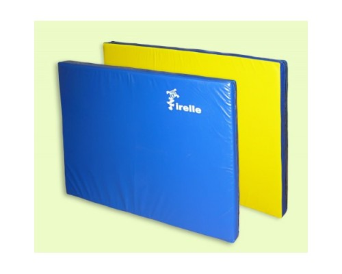 Мат гимнастический Irelle 100х100х8см желто-синий