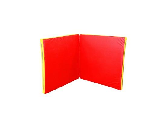 Гимнастический мат книжка Babygrai 100х200х8см Желтый/красный