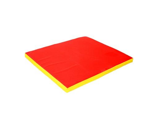 Гимнастический мат Babygrai 100х120х8см Желтый/красный
